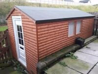 16ftx8ft shed log lap panel, open to offers