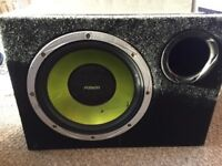 Sony xplod amplifier with fusion subwoofer