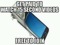 Get paid to watch videos. Work from home. Earn money. Opportunity business.