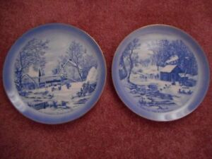 Two Plates, Currier & Ives