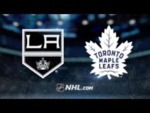 Leafs - LA Kings OCT 15 - RED 104 ROW29 $430 Pair$215.00