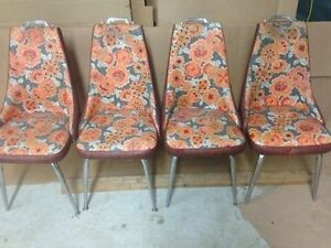 Vintage high back kitchen chairs