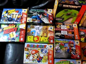 Wanted: WANTED NINTENDO 64 GAMES BOXED OR LOOSE