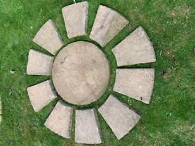 Paving circle x 2
