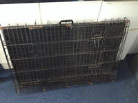 Large Dog Crate Cage roughly 120 X 70 X 70 cm suitable for spaniels labradors etc