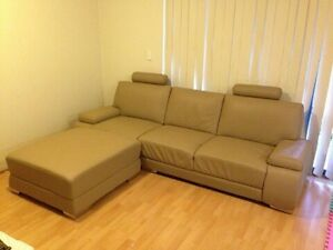 Leather Sofa Loung. With ottoman North Strathfield Canada Bay Area Preview