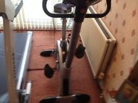 Exercise bike mains powered