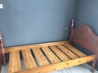 Single wooden bed frame