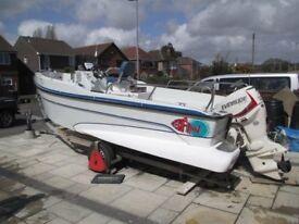 Redfinn 6m Centre Console Boat with New 90hp Evinrude E-Tec Outboard For Sale
