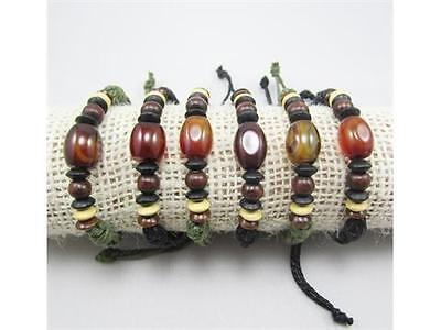 NEW Wholesale Fashion Lots of 6pcs Hemp Cuff Genuine Bracelets on Rummage