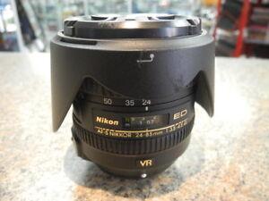 Nikon ED AF-S Nikkor 24-85mm Lens