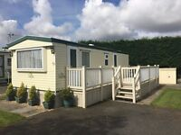 cheap static caravan for sale in cornwall not devon. 2017 site fees paid! newquay holiday park!!!