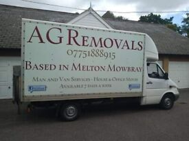 Man & Van Removal Services Based in Melton Mowbray