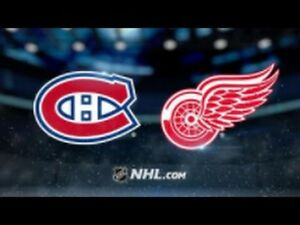 March 21st Canadiens vs Detroit Red Wings DESJARDINS!!!