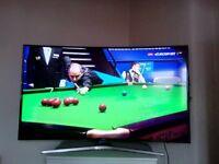 UHD CURVED Samsung tv 55inch smart 4k 3d .no lg philips hinsense bush