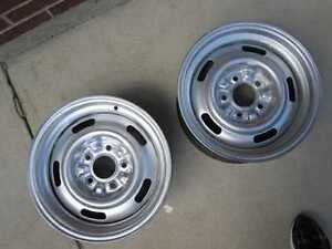 Two 14x6 GM Rally Wheels