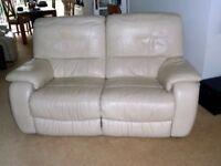 Quality Leather Cream Three Piece Suite
