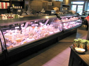 Pastry cases, Deli cases, Fresh meat cases, Fish cases