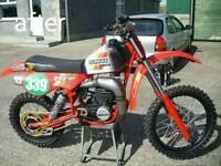 Classic motocross bike