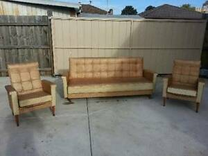 Retro 70's lounge / couch / sofa bed / armchairs Brunswick West Moreland Area Preview
