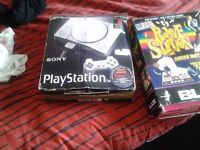 playstation 1, 11 games and dance mat also 2 controllers