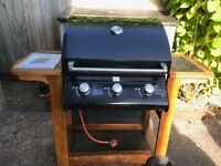 Nevada 3 burner gas BBQ