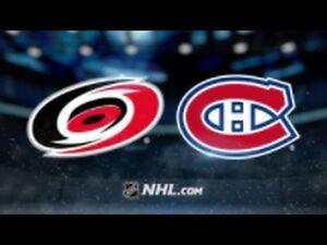 Hockey - Carolina vs MTL Canadians. March 23