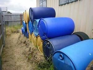 200 litre plastic drums  no bungs- $15 each Beaconsfield Tasmania Beaconsfield Fremantle Area Preview