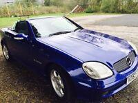 Mercedes slk 230 kompressor convertible 66000manual £3475