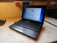 "Upgraded Asus 10.1"" netbook with new battery and charger. 2GB DDR3 RAM. 320GB hard drive. Webcam."
