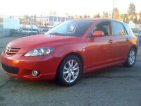 LOW KM CERTIFIED WELL MAINTAINED MAZDA 3