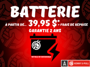 Batterie auto /Car battery+Pièces à bas prix /parts for cheap