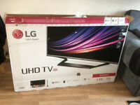 New in box LG 55 Ultra HD 4K Smart TV 55UH625V