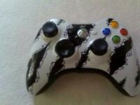 xbox 360 customized tear controller mint cond