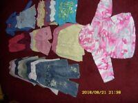 large bundle of 1-2 years clothing