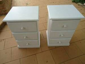 Bedside Table and Drawer Set Denistone East Ryde Area Preview