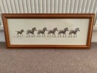 """Signed Artwork """"Zebra Crossing"""" by Warwick Higgs Signed Picture in wooden Frame"""
