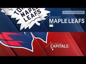 Tickets in 318 Row 4 - Maple Leafs vs Capitals Wed Jan 23rd 2019