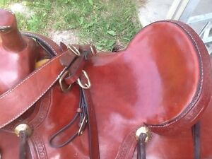 Custom built high country roping saddle Strathcona County Edmonton Area image 3