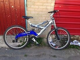 Mountain bike for sale has full suspension