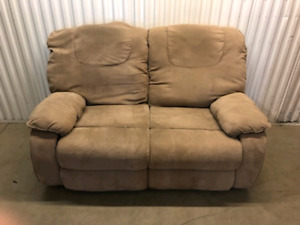Reclining Micro Fiber Love Seat **delivery Included