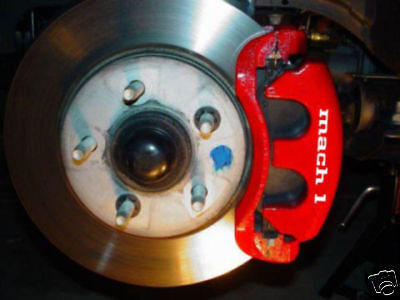 Ford Mustang MACH1 brake caliper decals set stickers - Mustang Brake Caliper Decals