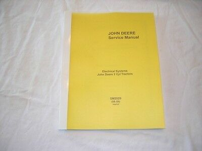 John Deere A B G D H Electrical Service Manual