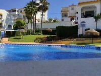 Costa del Sol 1 Bed Apartment Benalmádena Costa 300m To The Beach Private Parking Pool BBQ Gardens