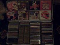 ex chart cds 80s 90s in metal flight cases