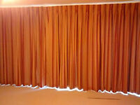 Very large pair of lined curtains