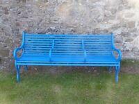 Three Seater Iron Garden Bench