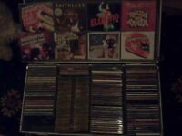 cd singles all chart music from 80s and 90s in a metal dj flight case.