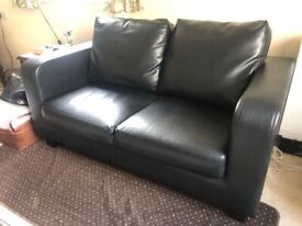 Black 2 seater sofa Can deliver