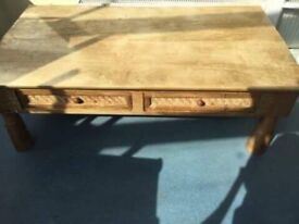 Large solid hardwood table